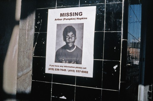 image from Left Behind series: sign for a missing boy named Arthur Pumpkin Hopkins
